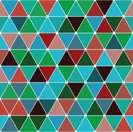 Mardi gras triangle pattern seamless tile background. Иллюстрация