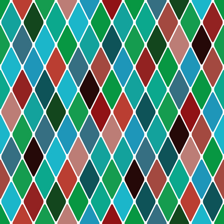 Harlequin 'Mardi Gras' seamless pattern background