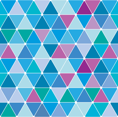 Winter blue triangle pattern. Seamless tile background.
