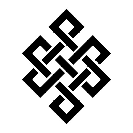 Guts of Buddha, The bowels of Buddha (The Endless knot, or Eternal knot, happiness node) — symbol of inseparability and dependent origination of existence and all phenomena in Universe. Stock Vector - 106088533