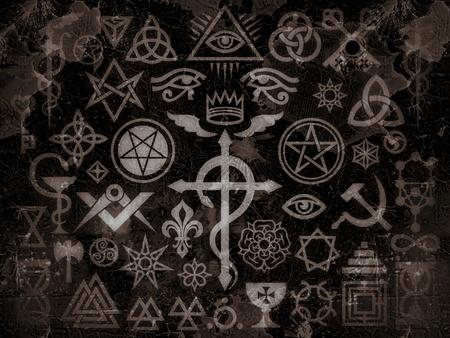 The mystic symbols of the Illuminati, Masonic Rituals and black magic. (Vintage Grime Edition).