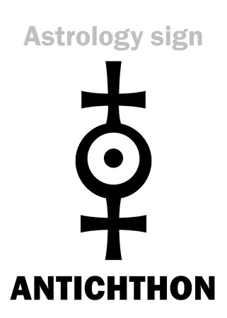 Astrology Alphabet: ANTICHTHON  Counter-Earth (also: Gloria, Horus) — «Twin Earth», Earth analog, hypothetical planet of Pythagoreans always on other side of Sun from Earth and not visible from Earth.