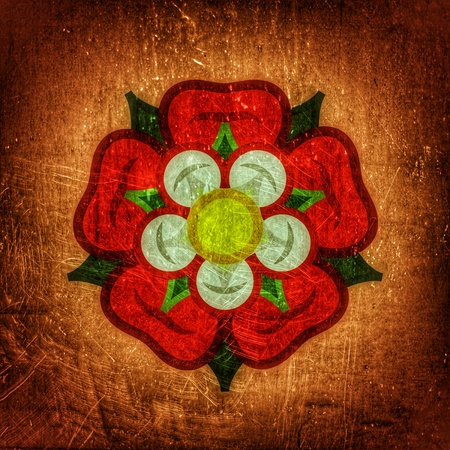 The English Rose (The Queen of flowers). Flower from The Garden of Eden; Paradise flower. The symbol of love and passion, beauty and perfection; also heraldic emblem. (Alternate grunge vintage remake).
