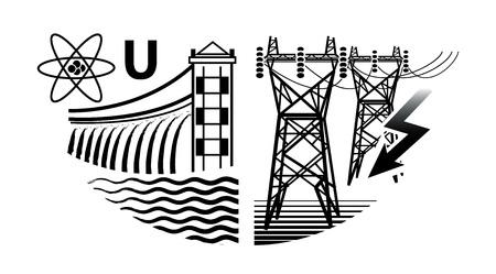 Risorse energetiche: centrali nucleari e idroelettriche e centrali elettriche.