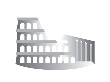 The Colosseum (Coliseum), also known as The Flavian Amphitheater, Rome, Italy. Stylized drawing. Çizim