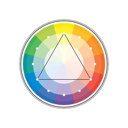 Polychrome Multicolor Spectral Versicolor Rainbow Circle of 12 segments. The spectral harmonic colorful palette of the painter.