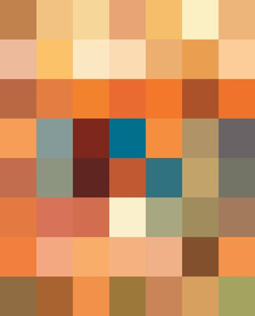 Multicolor Polychrome Mosaic background. Abstract colorful decorative ornate pixel grid pattern. 일러스트
