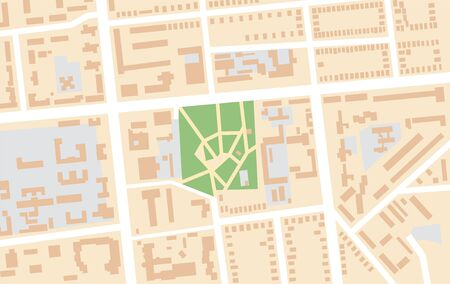 Map of The City Central Park. Geographical Location and Navigation tourist urban chart.