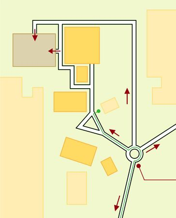 Navigation Map of Driving directions. Geographical Location, Tourist Guide, Route urban chart.