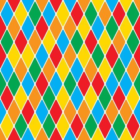 Harlequins polychromatic mosaic bright cheerful seamless pattern.