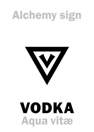 "Alchemy Alphabet: AQUA VITAE (Aqua vita ""water of life"", ""vodka"", Spiritus vini ""spirit of wine"", Ignis aqua ""fire water""), Ardent spirits, okowita, wódka. Aqueous solution of Ethanol: [C₂H₅OH+H₂O]."