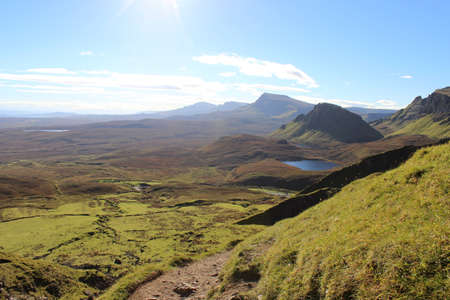 Flat land on the island Stock Photo