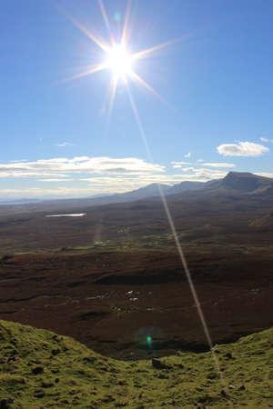 Sun shining over the island Stock Photo