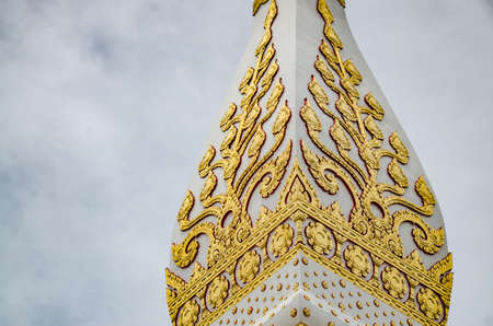 relics: NAKHON PHANOM, THAILAND - AUGUST 02, 2016: Patterned end of the Phanom Relics. Nakhon Phanom Province in the northeast of Thailand, Laos border.