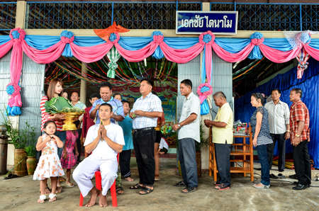 ordinate: NAKHONRATCHASIMA, THAILAND - MAY 05, 2012: Ordination for men, which is the case of District Buddhists in Thailand, the legendary long.