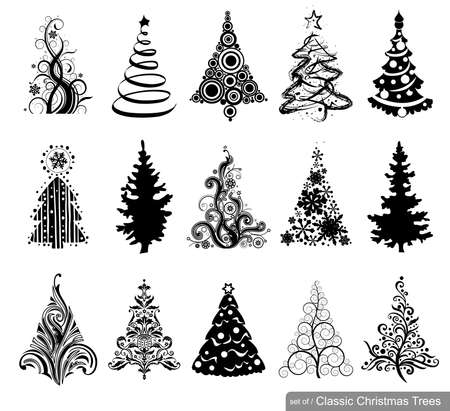 15 designs in one file. To create holiday cards, backgrounds, ornaments, decoration. Imagens - 33664522
