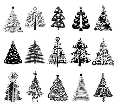 15 Designs in einer Datei. Zur Weihnachtskarten, Hintergründe, Ornamente zu schaffen, Dekoration. Standard-Bild - 33664526