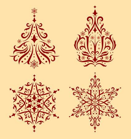 adorno navidad conjunto de hermosos adornos de navidad para crear tarjetas de navidad