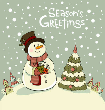season greetings: Vector illustration for banners, backgrounds, decorations.