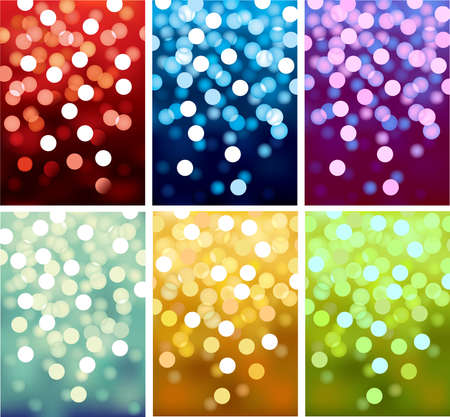 Vector background defocused festive lights, no size limit.