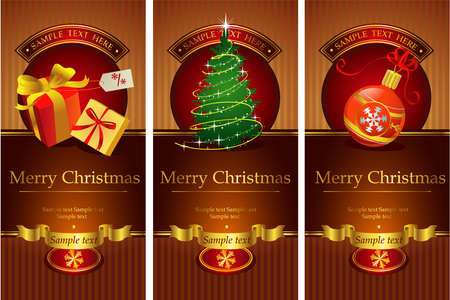 new year s: For backgrounds, presentations, decorations. All pieces are separate Illustration