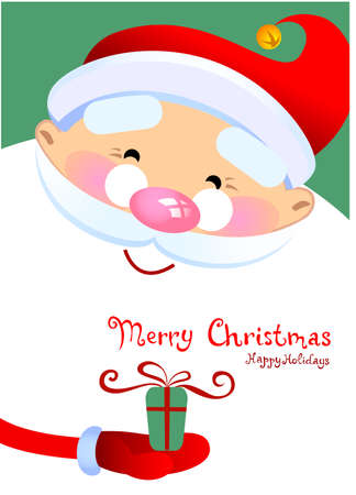 weihnachtsmann lustig: Christmas Greeting Card with Santa Claus Cartoon