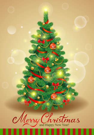 tree shape': Possible to create holiday cards, backgrounds, ornaments. Illustration