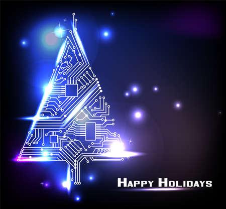 mainboard: Hi-tech Christmas tree from a digital electronic circuit