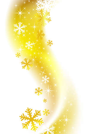 natale: Beautiful winter golden background for banners, backgrounds,  decorations.