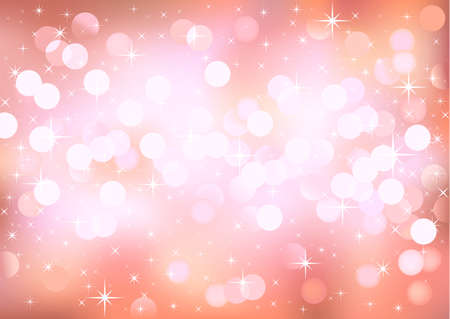 lustrous: Vector background glittering pink lights, no size limit. proportion of A4 format horizontal