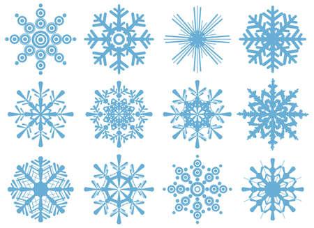 brand new: set of brand new snowflakes Illustration