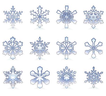 brand new: Set of brand new snowflakes