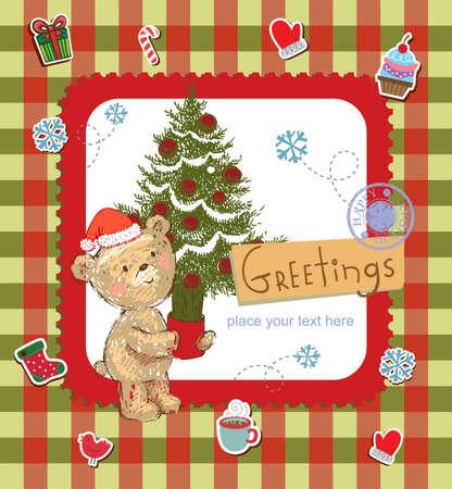 seasons greetings: Seasons Greetings Illustration