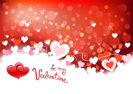 valentine background: Valentines background with hearts, place for text