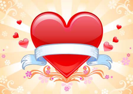 Valentine background wiht heart. Vector