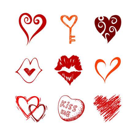 peace sign: Hearts.