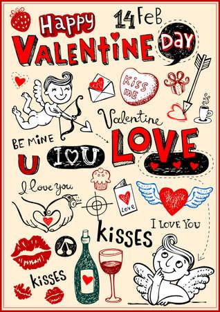 heart month: Valentine doodles