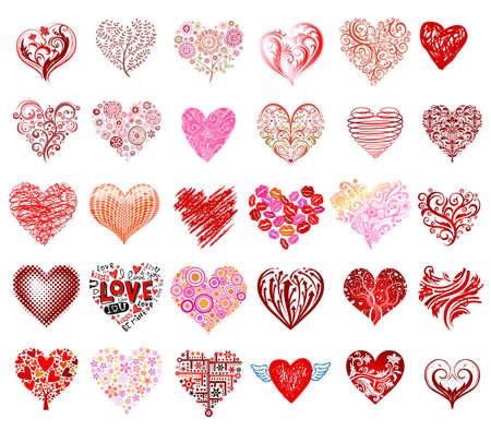 Vector corazones Foto de archivo - 35644980