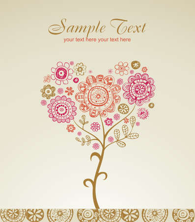 primavera: Valentine greeting card