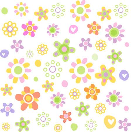 Cute floral ornament Vector