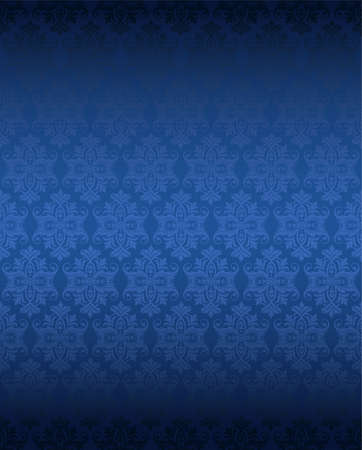 stately: Luxury seamless blue floral wallpaper