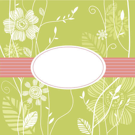 personalize: Greeting card, floral background