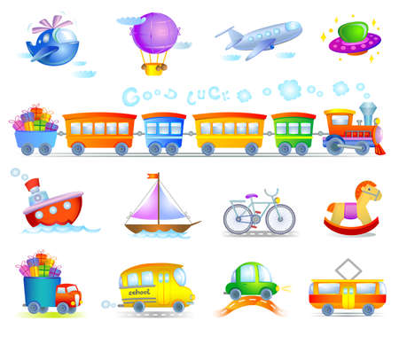 toy plane: Types of transport Illustration