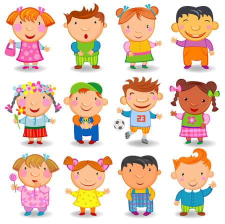 Niños de la historieta. Foto de archivo - 35805992