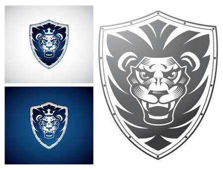 fearsome: Lion on a Shield