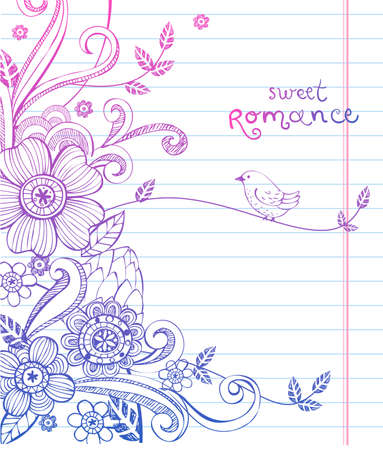 personalize: Hand-Drawn Sketch floral composition.