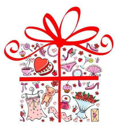 cowards: Gift Ideas for girl in gift shape.
