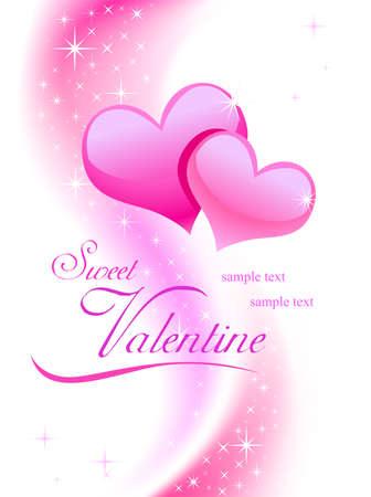 heart of stone: Valentine background wiht hearts Illustration