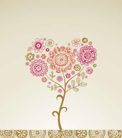 flor: Valentine greeting card