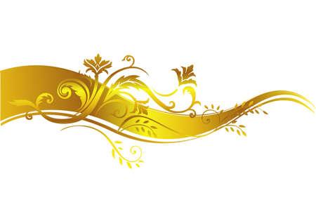 luxurious seamless wallpaper: Golden luxury design element. Illustration